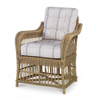 Century Furniture Thomas O' Brien Mainland Wicker Large Dining Arm Chair W/ Button Back AE-D40-54B-NT