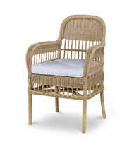 Century Furniture Thomas O' Brien Mainland Wicker Large Dining Arm Chair AE-D40-54-NT
