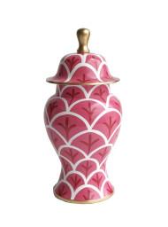 Dana Gibson Pink Bedford Ginger Jar - Small
