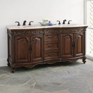 Ambella Provincial Double Sink Chest - Dark