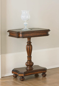 Ambella Brass Etched Accent Table