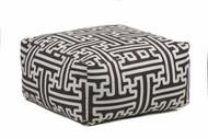 Chandra Rugs POU-112 Handmade Contemporary Printed Cotton Pouf