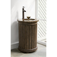 Ambella Column Pedestal Sink Chest - Dark Grey