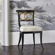Ambella Dolphin Chair - Black / Gold