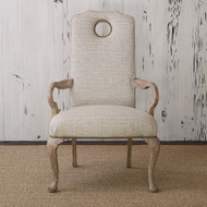 Ambella Queen Anne Arm Chair - Oak - Balsamo/Rai