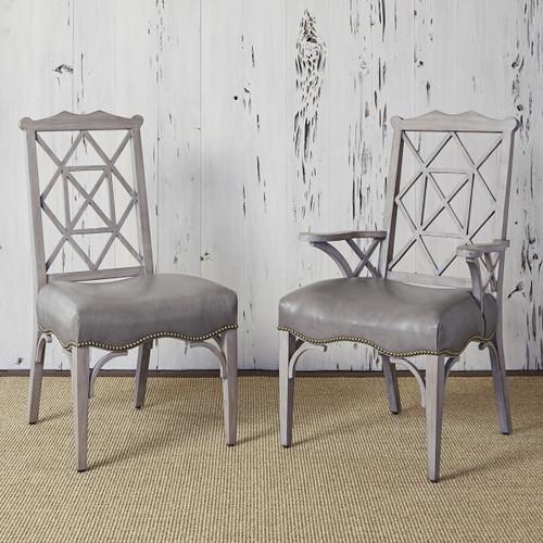 Ambella 18th Century Side Chair - Grey