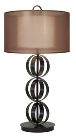 Thumprints Compass Table Lamp