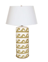 Dana Gibson Wave Lamp in Taupe