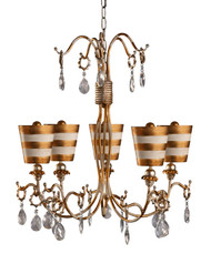 Flambeau Tivoli Gold 5-Arm Chandelier