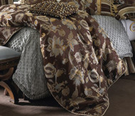 Isabella Collection by Kathy Fielder Alex Grid with Ruched Cord Duvet