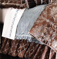 Isabella Collection by Kathy Fielder Symone Pleated Silk Duvet