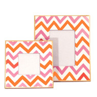 Dana Gibson Pink Bargello Picture Frame