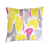 "Dana Gibson Modern Art In Yellow 22"" Pillow"
