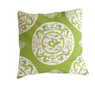 "Dana Gibson Green Dragon 22"" Pillow"