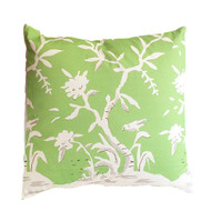 "Dana Gibson Cliveden In Green 22"" Pillow"