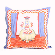 Dana Gibson Emperor Pillow In Blue