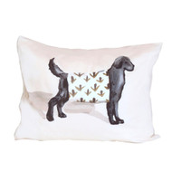 Dana Gibson Black Dog Pillow
