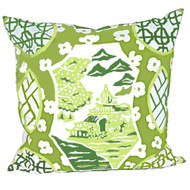 Dana Gibson Canton In Green Pillow