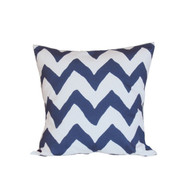 "Dana Gibson Navy Bargello 22"" Pillow"