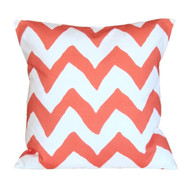 "Dana Gibson Orange Bargello 22"" Pillow"