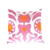 """Dana Gibson Pink Agra 22"""" Pillow"""