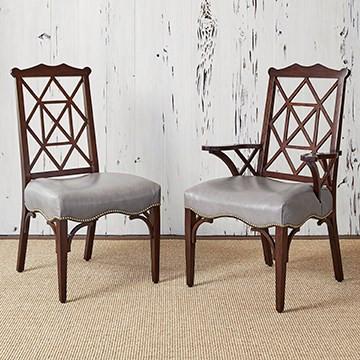 Ambella 18th Century Arm Chair - Walnut