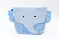 Nikiani Charlie Blue Gingham Elephant Cotton Wet Bag & Backpack
