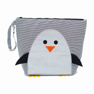 Nikiani Chili Silver Glitter Penguin Mommy Bag & Backpack