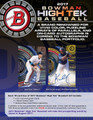 2017 Bowman High Tek Baseball Hobby 12 Box Case