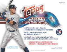 2018 Topps Series 1 Baseball Hobby 12 Box Case