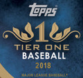 2018 Topps Tier One Baseball Hobby 12 Box Case