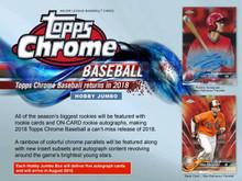 2018 Topps Chrome Baseball Jumbo HTA 8 Box Case