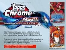 2018 Topps Chrome Baseball Hobby 12 Box Case