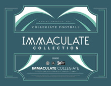 2018 Panini Immaculate Collegiate Football Hobby Box