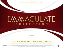 2018 Panini Immaculate Baseball Hobby 8 Box Case