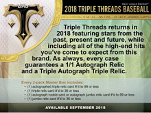 2018 Topps Triple Threads Baseball Hobby 18 Box Case