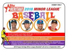 2018 Topps Heritage Minor League Baseball Hobby 12 Box Case