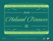 2018 Panini National Treasures College Football Hobby 4 Box Case