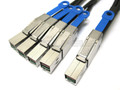 Mini SAS HD to 4 Mini SAS HD 1 Meter Breakout Cable