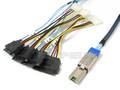 External Mini SAS to 4 29-Pin SAS 3 Meter Breakout Cable