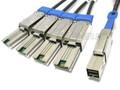 Mini SAS HD to 4 Mini SAS 1 Meter Breakout Cable