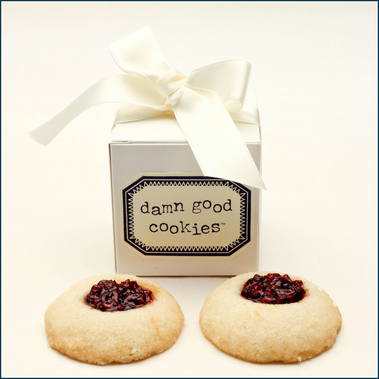 2 piece damn good cookie favor box