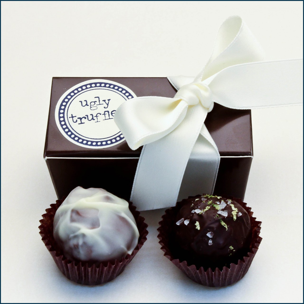 2 piece chocolate truffle favor box