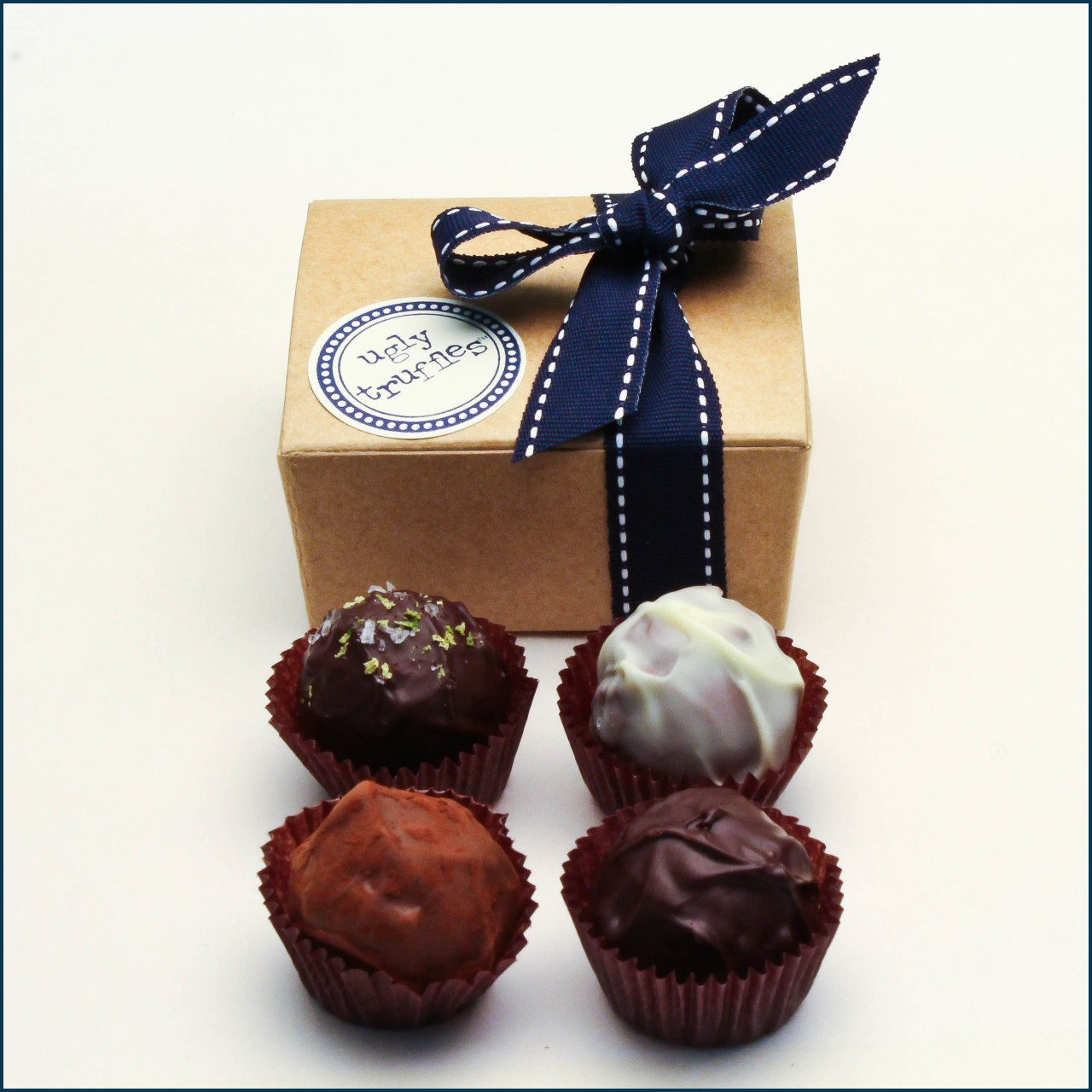 4 piece chocolate truffle  favor box