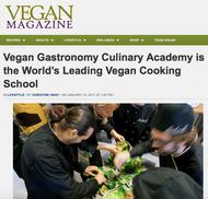Vegan Magazine USA writes about academy