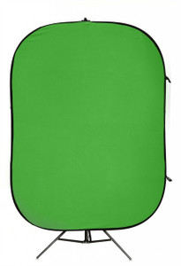 Chroma Blue/Green Velvet type Collapsible Background 200 x 240cm with Train