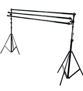Studio background support stands and motorised systems for backdrops manual winding roller sets with expansion drives