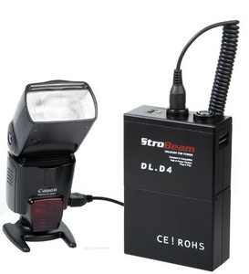 Strobeam DL D4 Battery Pack for Canon/Nikon Speedlite and Strobeam EID 500 Flash Head