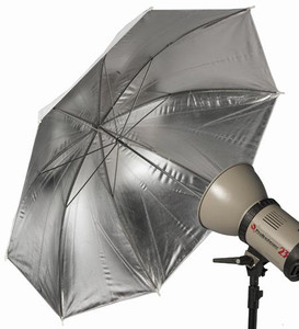 Pro White & Silver Umbrella 101cm - 8mm Shaft