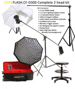 Coreflash Studio kit CF-D300 2 head Studio Kit with Bowens S-fit